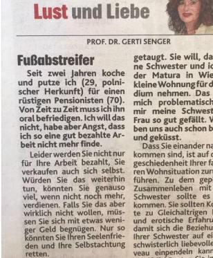 Kronen Zeitung Gerti Senger